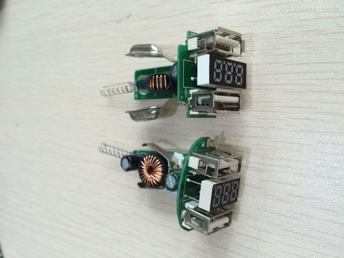 车充带显示电压电流方案