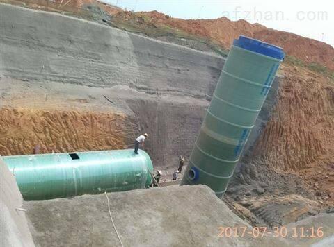 小区生活 玻璃钢一体化雨水提升泵站 原