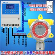 化工厂厂房二甲胺浓度报警器,气体报警探测器与防爆电磁阀门怎么连接