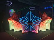 P5室内显示五角星LED DJ屏
