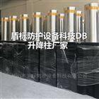 DB大门口半自动气压升降防撞柱