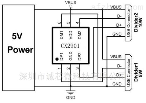 uc2500-uc2500识别限流ic 多口充电器芯片