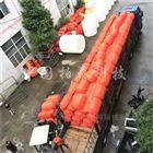 水电站双排拦污浮筒布设安装