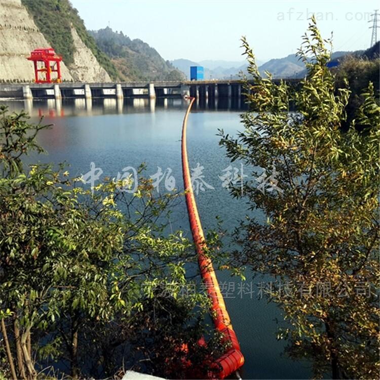 竹山县水电站拦污排塑料浮桶