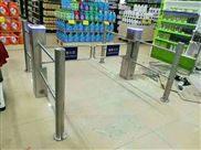 超市入口摆闸机转闸门店铺桥式斜角三辊闸