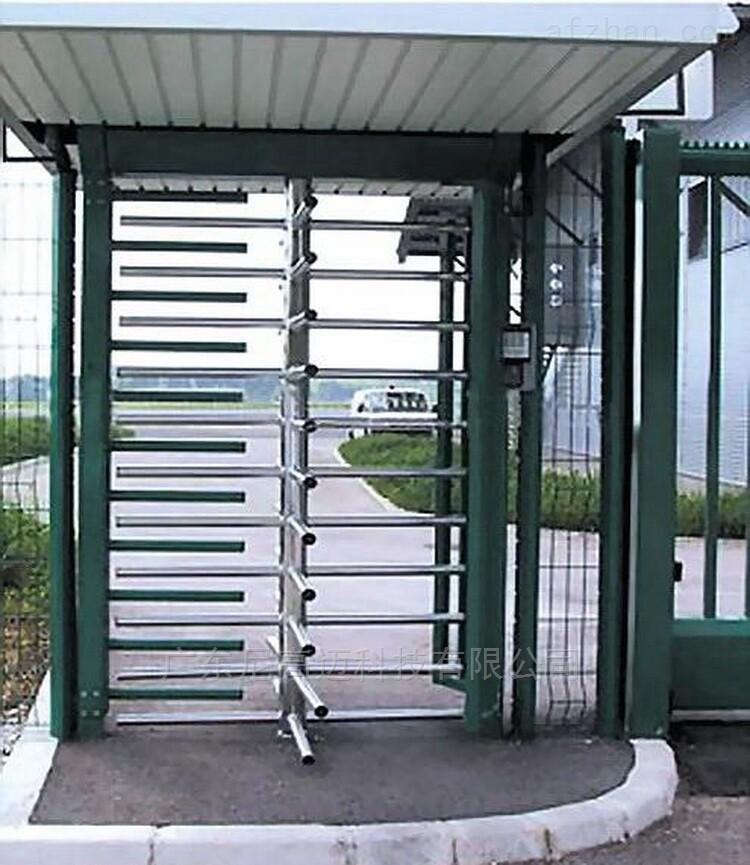 单通道90度旋转门-外框喷涂不锈钢滚闸门(颜色可选)